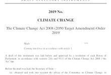 英国:2050年净零碳目标立法通过