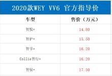 新款VV6上市:激光大灯+换装大屏