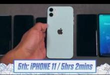 五款手机续航测试对比,苹果成为续航王