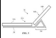 苹果新专利展示折叠屏手机形态