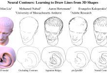 将三维形貌转为艺术简体画?神经轮廓算法助力绘制三维形状精准轮廓