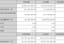 比亚迪一季度报告:扣非净利润为负8165万