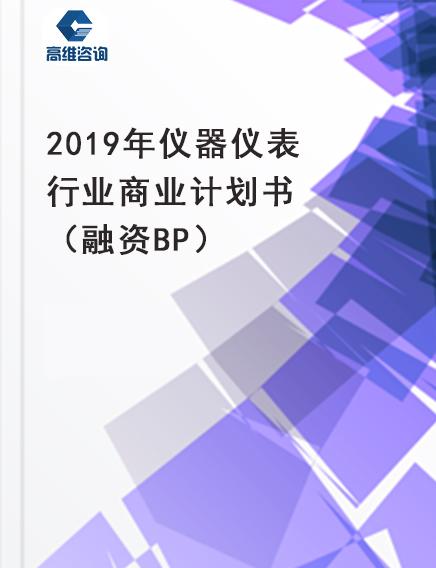 2019年仪器仪表行业商业计划书(融资BP)
